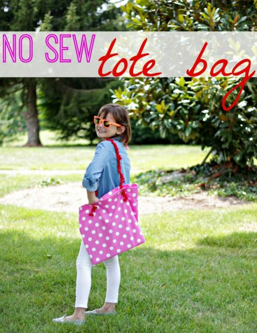 No Sew Tote Bag {Get Out That Glue Gun!}