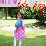 no sew tote bag {get out your glue gun}
