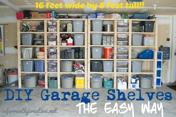 DIY Garage Shelf_organization