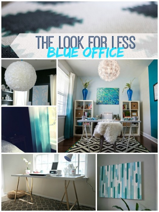 5 Ways to Get This Look:  Blue Office