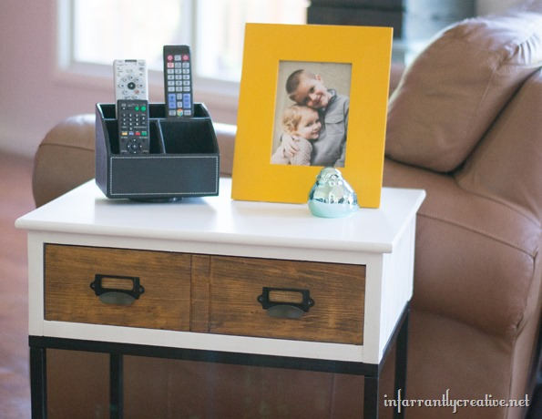 mixed tones side table