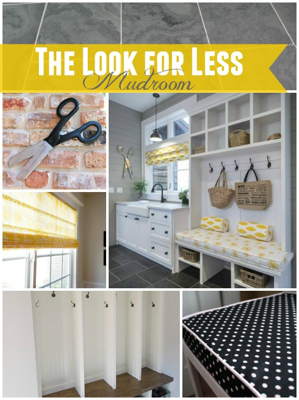 5 Ways to Get This Look:  Yellow & Gray Mudroom