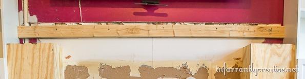 adding a wood mantel