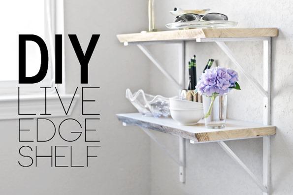 diy live edge shelf