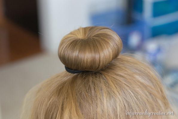 halloween hair pumpkin bun - infarrantly