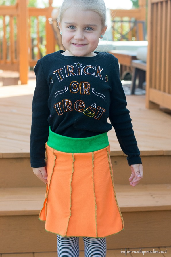 halloween pumpkin skirt