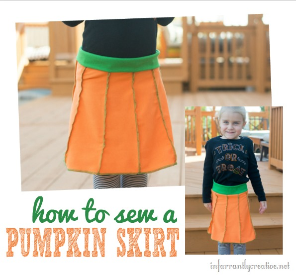 how to sew a pumpkin skirt for a little girl