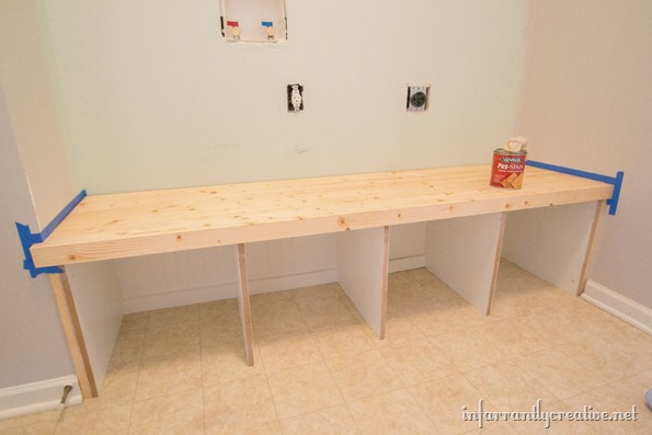 Mudroom Lockers Part 1 – Bench - Infarrantly Creative