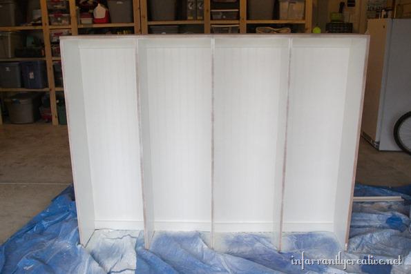 painting mudroom lockers