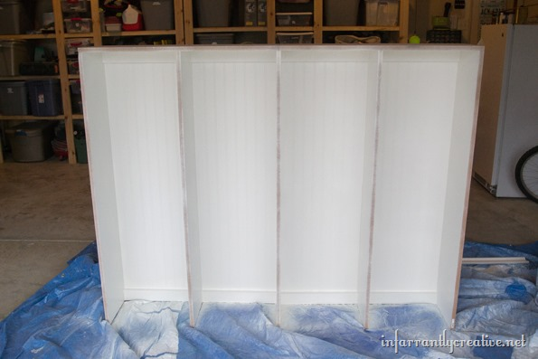 painting mudroom lockers