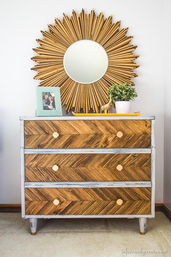 paint stick dresser