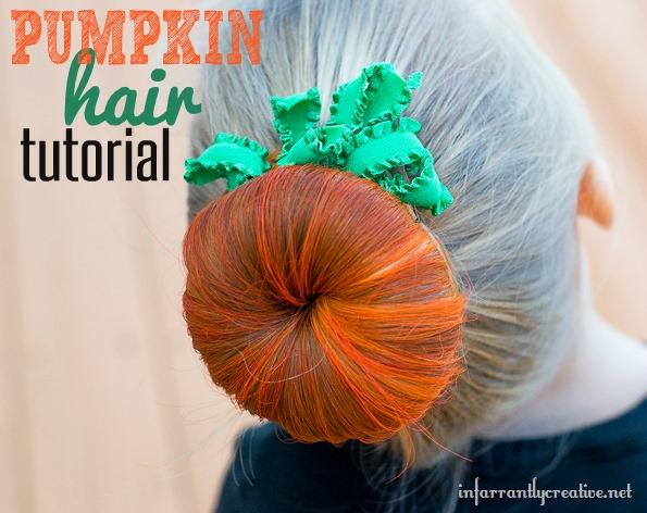 Halloween Hair: Pumpkin Bun