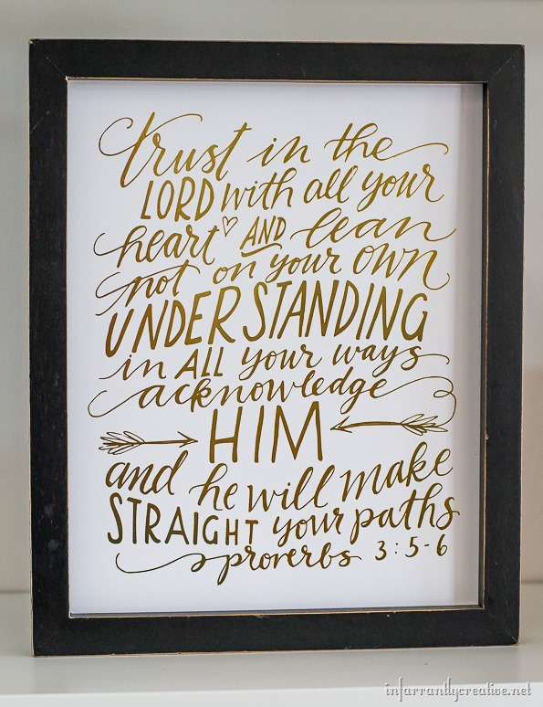 trust in the lord hand lettering