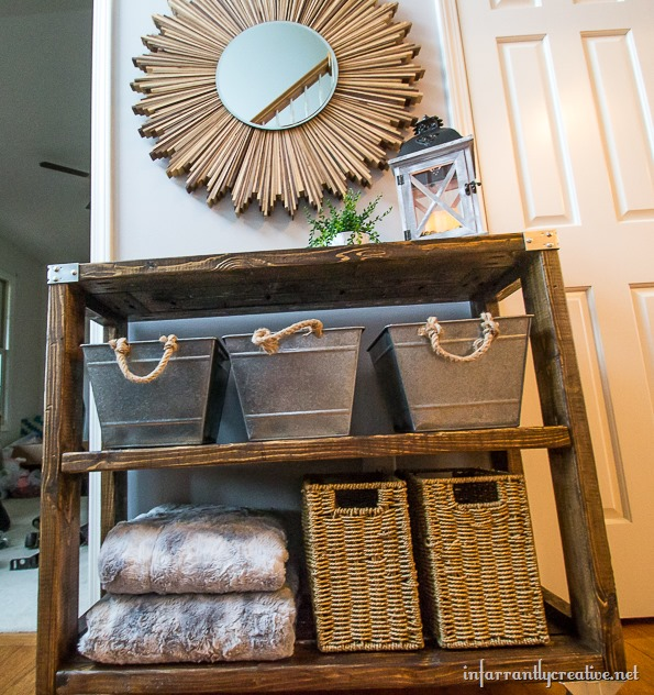 DIY foyer furniture