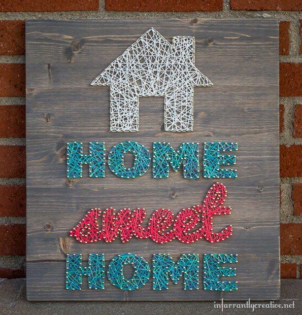 Home Sweet Home String Art Infarrantly Creative
