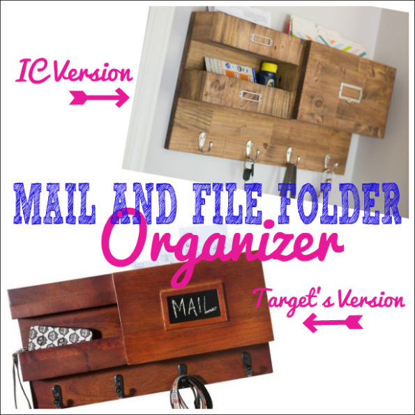 Wall Mail Organizer with Space for Keys, Files and Bills