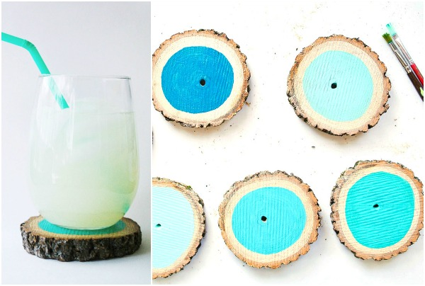 ombre-painted-wood-slice-coasters