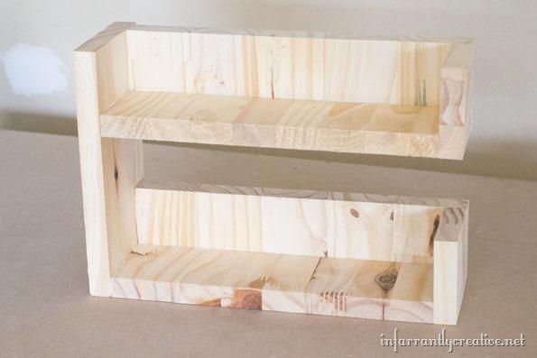 wood mail organizer