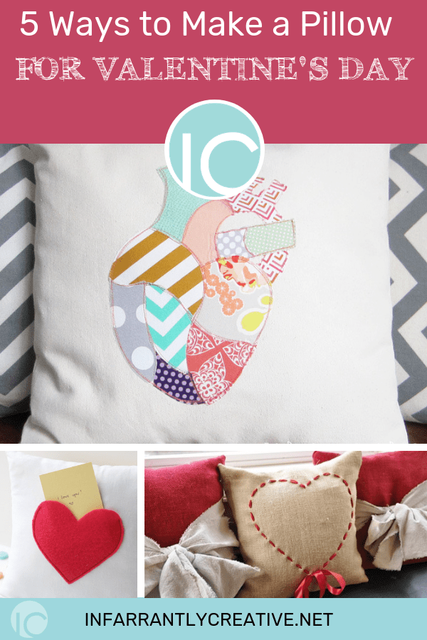 DIY pillows for Valentine's Day