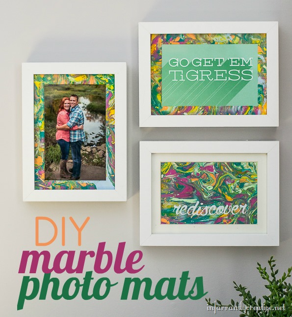 DIY CRAFTS | Marbled Photo Mats