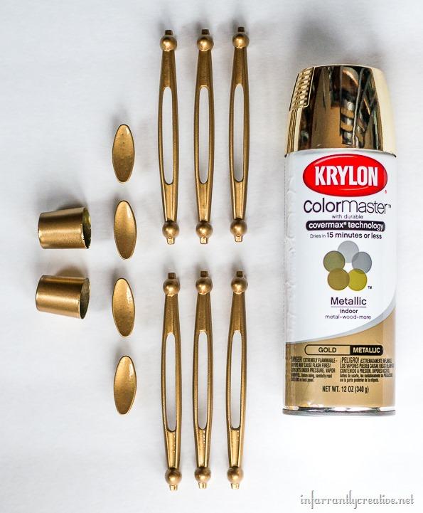 krylon metallic gold hardware