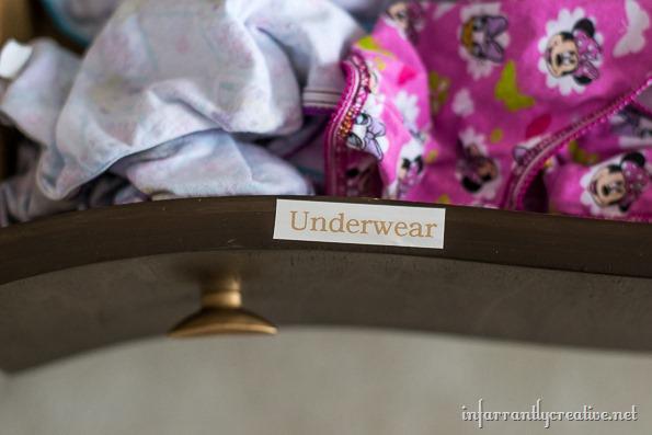 labeled dresser
