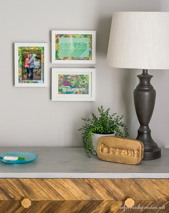marbled photo mats