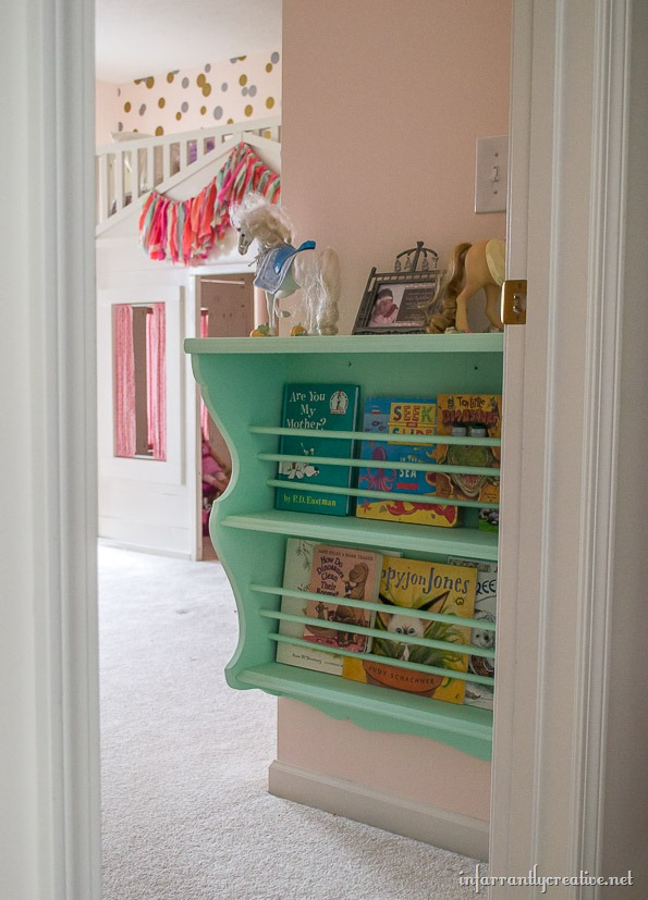 coral and mint bedroom