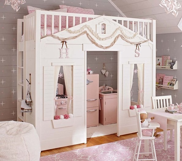 pb kids cottage loft bed
