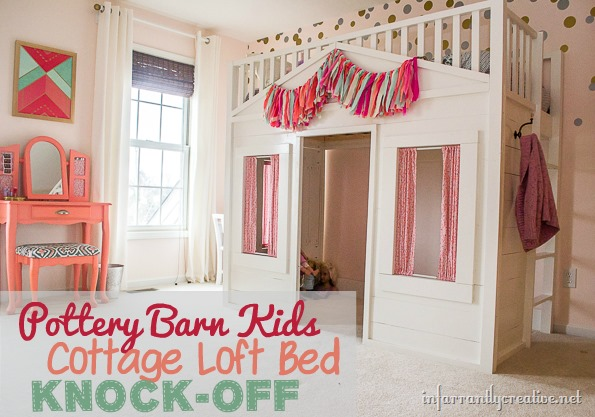 pottery barn cottage loft bed knock off infarrantly creative. Black Bedroom Furniture Sets. Home Design Ideas