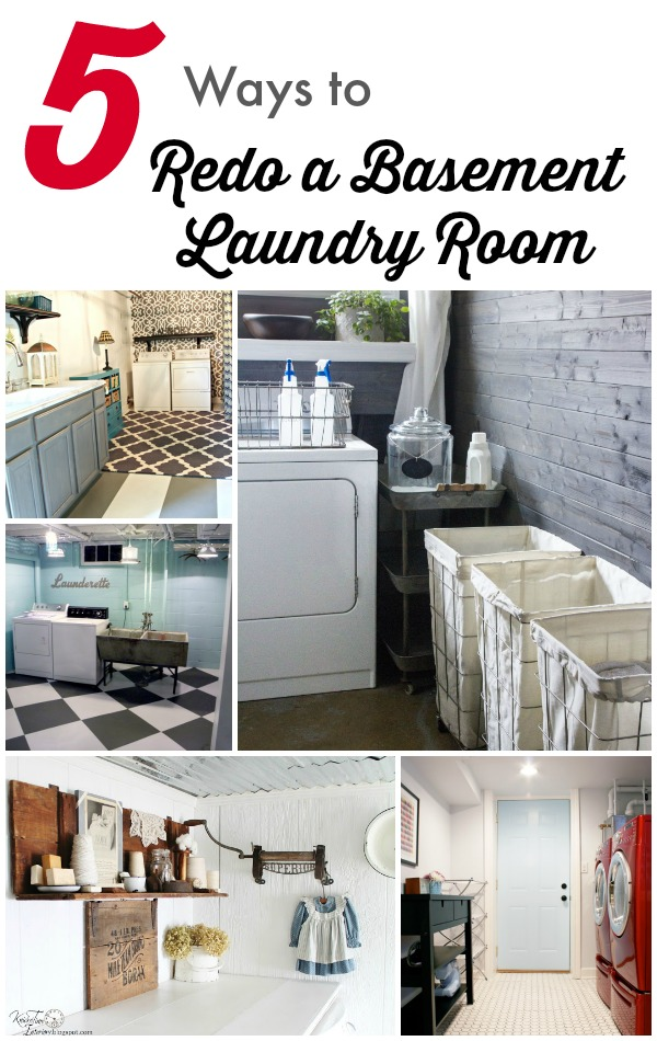 5 Ways to Redo a Basement Laundry Room