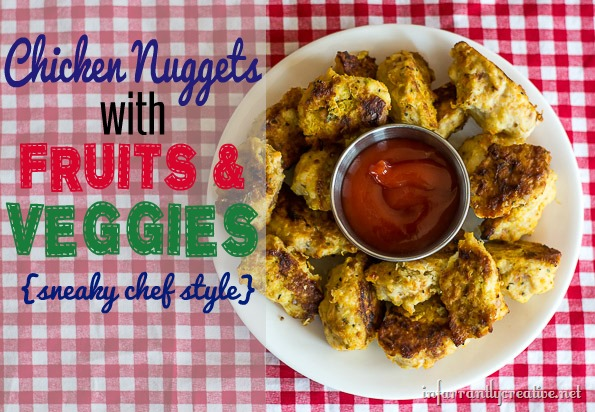 healthy-chicken-nuggets-with-fruits-and-vegetables
