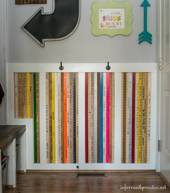 yardstick wall art