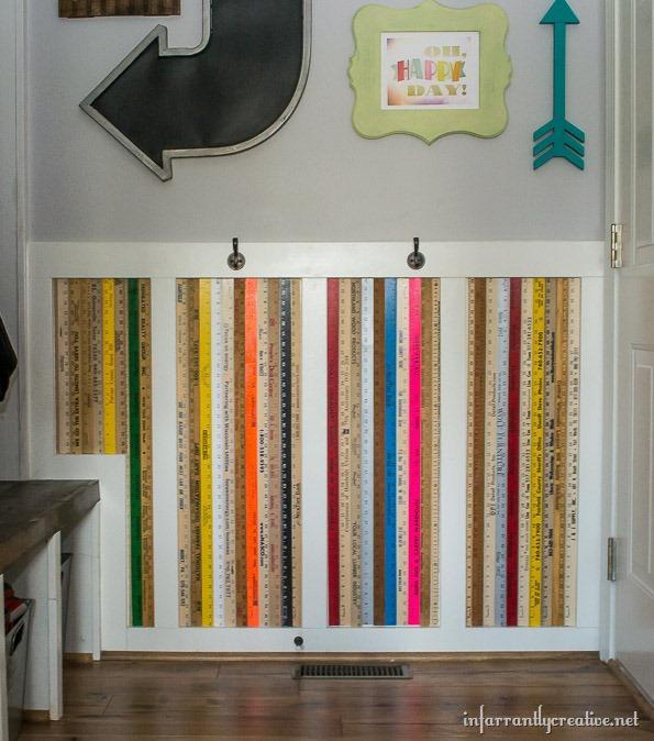 Exceptional Yardstick Chair Rail Part - 3: Yardstick Wall Art