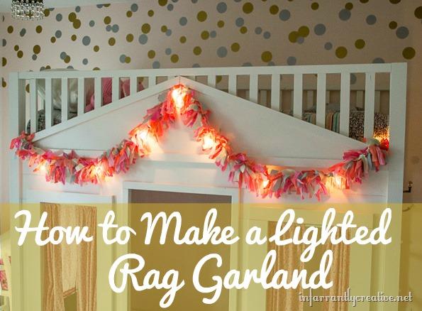 Lighted Fabric Rag Garland