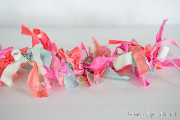 lighted rag garland