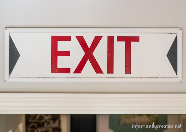 exit sign handmade