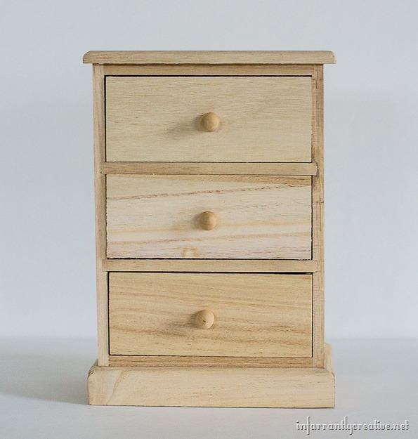 wood mini dresser