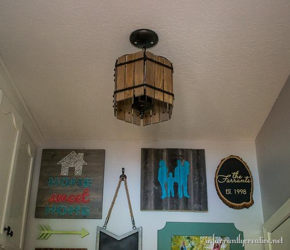 DIY cage chandelier
