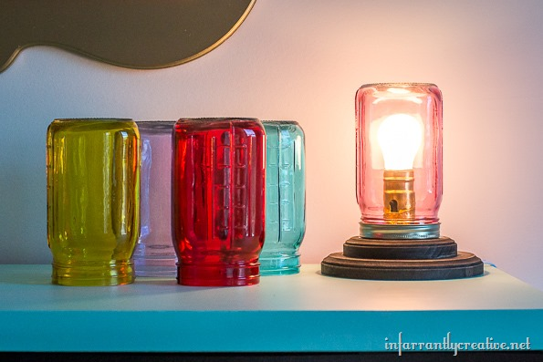 Mason Jar Table Lamp - Infarrantly Creative