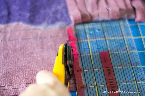 making fringe on a tshirt