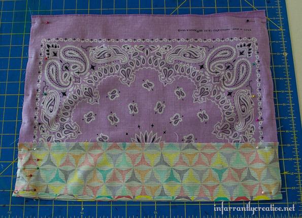 purple bandana skirt