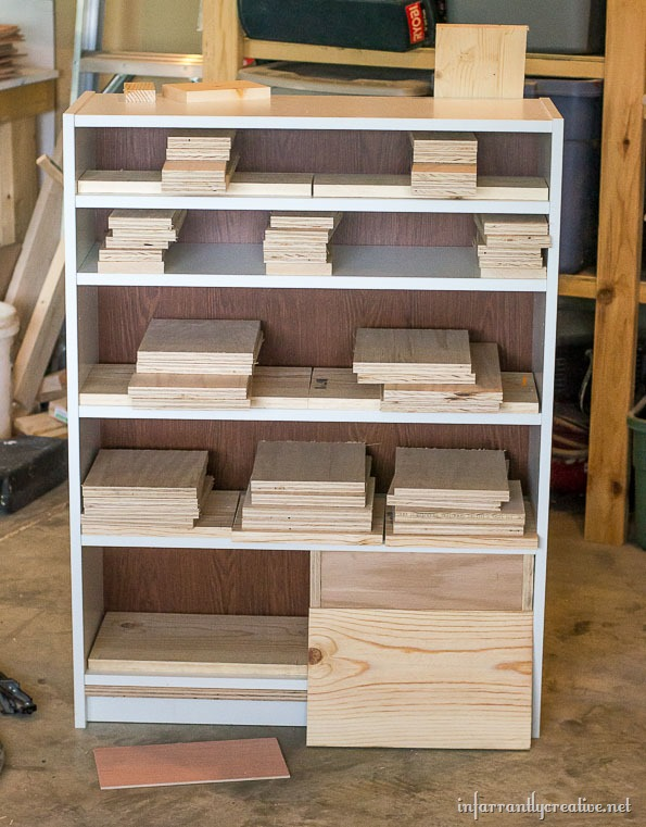 turning an ikea bookshelf into a dresser