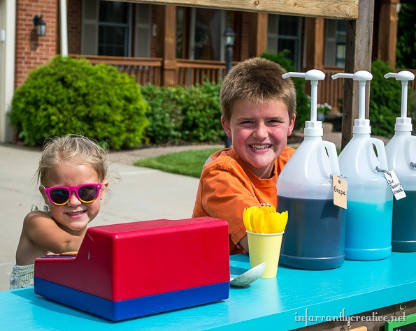 at home snow cone stand