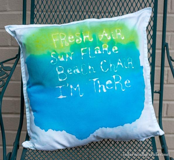 beach saying pillow