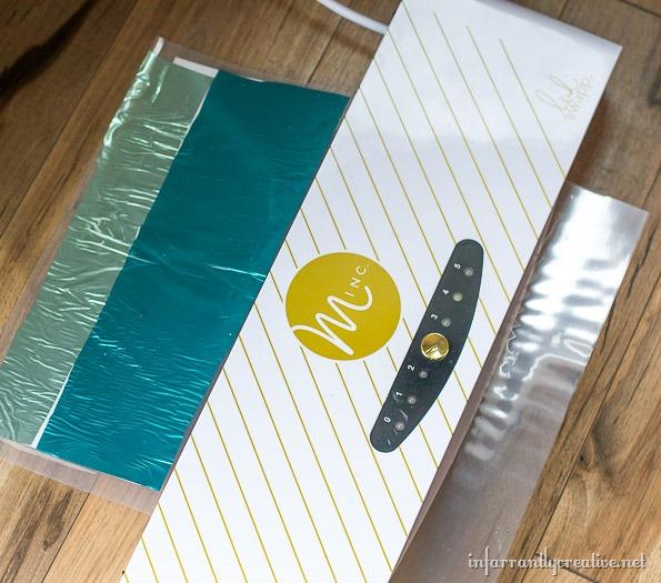colored foil postcards