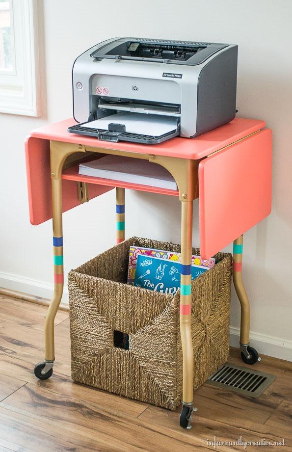 printer cart typewriter table