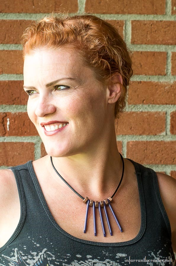 DIY JEWLERY | Making this necklace simply involved heading to your local hardware store. This is the perfect gift for a DIY girl made by infarrantlycreative.net