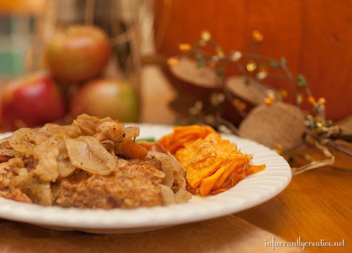 harvest baked apple pork chops