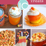 Halloween Candy Corn Inspired Treats, cupcakes, punch, candy corn, chex mix
